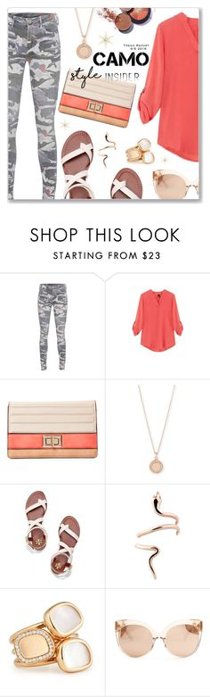 """""""Go Camo"""" by dressedbyrose ❤ liked on Polyvore featuring True Religion, Melie Bianco, Astley Clarke, Tory Burch, Roberto Coin, Linda Farrow and camostyle"""