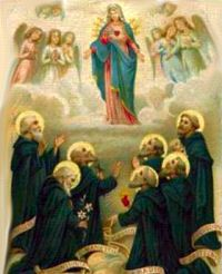 Seven Founders of the Order of Servites pray for us.  Feast day February 17.