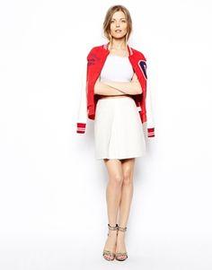 Carven | Leather A-line skirt | NET-A-PORTER.COM | lady clothes ...
