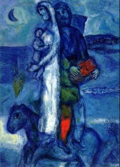 Fisherman's Family, 1968, Marc Chagall Size: 92x64 cm Medium: oil on canvas