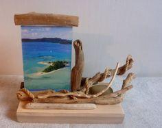 Cadre en bois flotté par l'Atelier de Corinne