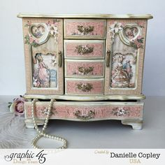 Gilded Lily by Graphic 45 Jewelry Armoire by Scrapbook Maven - found at http://scrapbookmaven.com/blog/graphic-45-gilded-lily-altered-jewelry-armoire/