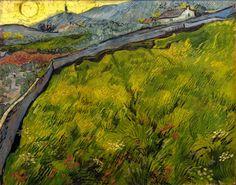 Vincent van Gogh, Cornfield at Sunrise * 1890 on ArtStack #vincent-van-gogh #art