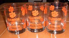 CLEMSON Glasses (EUC)