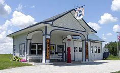 Standard Oil Gas Station- Odell. On the National Register of Historic Places, this gas station was built in 1932 and served travelers until 1975. It was restored with the help of the Illinois Route 66 Association's Preservation Committee.