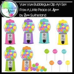 *50% off for the first 48 hours*Included in this set are:6 gum ball machines6 lollipops6 gum balls6 empty gum ball machinesAll in bright, vivid colors!Black and white versions included!If you like this set, check out myLittle Polka Dot Bikini Digital Paper and Accent setSpring Fling Digital Paper and Accent setMega Maths Clip Art bundleSummer Loving Digital PaperEasy terms of use:Products may be used for commercial use as long credit is given back to A Little Peace of Africa.