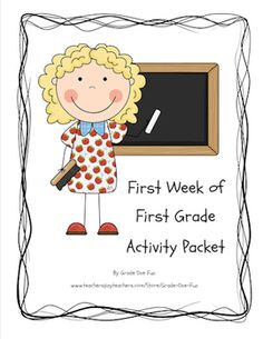 First Week of School Activity Packet for Grade One $3.00 First Grade Back to School