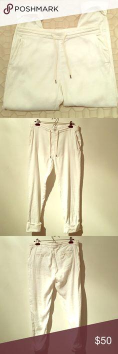 James Perse Cotton Linen Blend pants James Perse size 1 women's Cotten linen blend pants. Excellent quality and condition. James Perse Pants