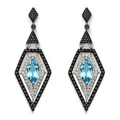 Rarities: w/ Carol Sterling Blue Topaz, Spinel & White Topaz Earrings R537 #hsn