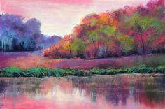 soft pastels,pastellkreide,landschaft,landscape