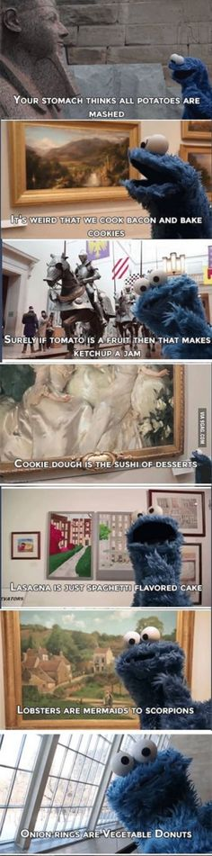 Cookie Monster is a revolutionary thinker