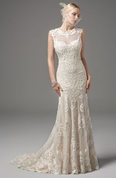 Maggie Sottero - High Neck Mermaid Gown