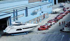 Azimut/Benetti ospita 50 Ferrari per l'evento Eccellenze Motoristiche