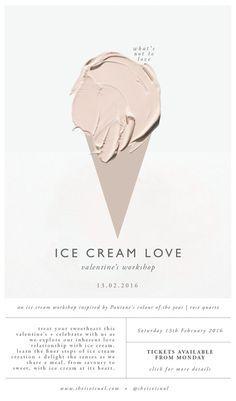 Ice Cream Love Workshop poster design by She Is Visual Web Design, Layout Design, Print Design, 2020 Design, Corporate Design, Branding Design, Flyer Design, Dm Poster, Posters