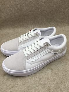 b59238fe070 Dime x Vans Old Skool Pro  amp  Fairlane Classic Gray True White Womens  Shoes