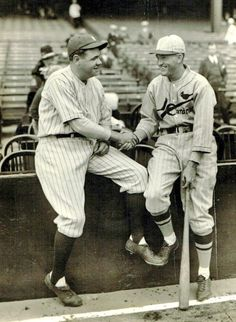 Two of the five greatest Major League Baseball hitters of all time: Babe Ruth, New York Yankees and Roger Hornsby, St. Louis Cardinals.