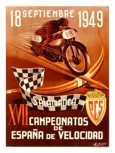 Course de motos à Salamanque le 18 septembre 1949