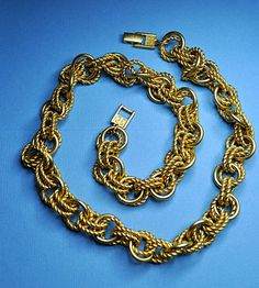 GIVENCHY Vintage Chunky Satin Gold and Gold by HauteVintageJewels