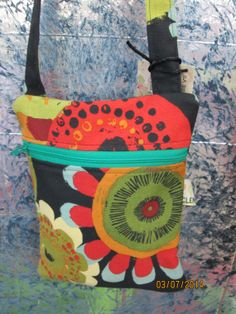 Sling Hipster in Earth Tone Colors with Zipper by ClemmieVs, $13.00