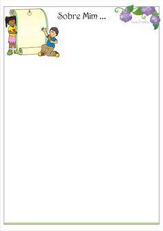 Modelo de Portfólio Educação Infantil como Instrumento de Avaliação. | Ideia Criativa - Gi Barbosa Educação Infantil Bart Simpson, Fictional Characters, Index Cards, Classroom, Frames, Writing Paper, Fantasy Characters