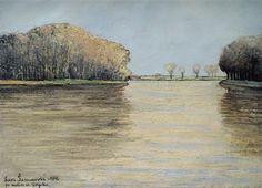 Drava River - Sumanovic, Sava - Expressionism - Oil on canvas - Landscape - TerminArtors