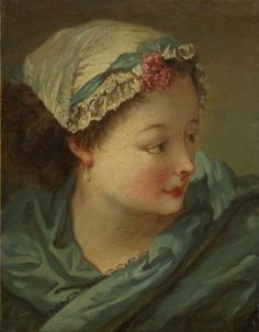 Head of a Young Woman, early 1730s François Boucher (French, 1703-1770)
