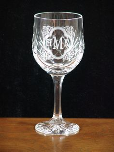 Personalized Wine Goblet - what a great gift idea