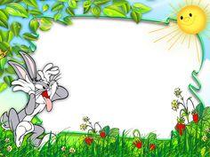 Funny Bunny Cute Kids Transparen Photo Frame