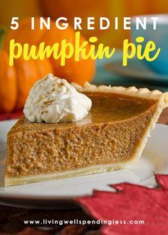 Perfect Pumpkin Pie, Best Pumpkin Pie, Homemade Pumpkin Pie, Pumpkin Recipes, Canned Pumpkin, Fresh Pumpkin Pie Recipe, Pumpkin Pie From Scratch, Paleo Pumpkin Pie, Gastronomia