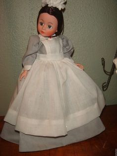 Clara Barton Red Cross Madame Alexander Portrettes NURSE DOLL 1980s with stand #DollswithClothingAccessories