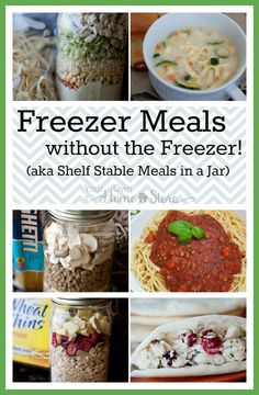 Meals in a jar have all the benefits of freezer meals without the time or space investment! Give these a try! http://www.yourownhomestore.com/?p=9390