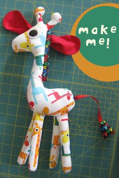 Make a Giraffe - Free pattern and step by step Photo tutorial - Bildanleitung und gratis Schnittvorlage