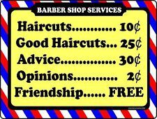 BARBER SHOP SIGN -SHOP SERVICES -  BARBER SUPPLIES, BARBER CHAIR, SALON SUPPLIES