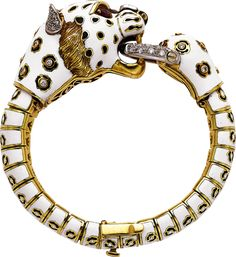 Pierino Frascarolo | Diamond, Ruby, Enamel, Gold Bracelet