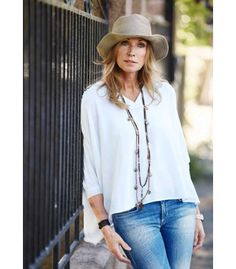 Anette Stai Classics hvit bluse