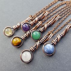 I love these long droplet necklaces! Choose from six different stones!