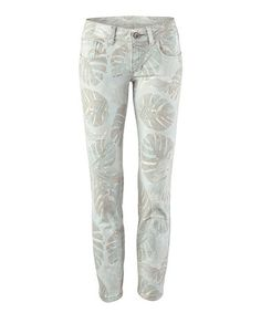 Love this Paradise Leaf Super Skinny Crop Jeans on #zulily! #zulilyfinds