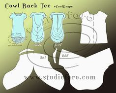 well-suited: Pattern Puzzle - Cowl Back Tee