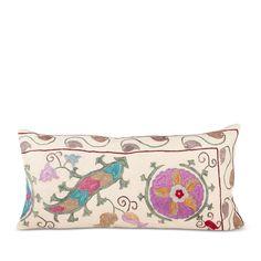 Turkish Suzani Lumbar Pillow- XI