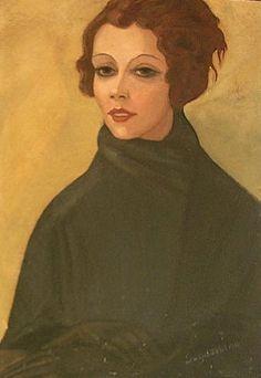Portrait of Balieva - Komissarghevskaia, c.1925 - Serge Sudeikin - WikiArt.org