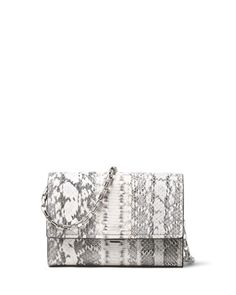 Yasmeen Small Snakeskin Clutch Bag, Natural by Michael Kors Collection at Neiman Marcus.