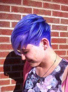 Unicorn Pixie. Pravana Color. Purple Blue Hair.