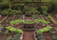 rustic potager; would space more tightly