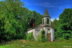 Old abandoned church in Amelia County, VA