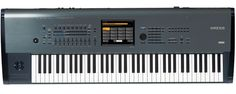 Another view of the Korg Kronos 73. I'm glad Korg went back to a metallic top construction.