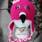 Flamingo Beanie Pattern - via @Craftsy