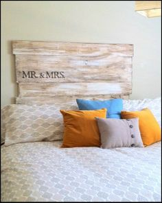 headboard.... Everybody could sign like the guest book..... Or could say Makin Plans
