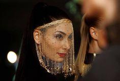 gorgeous beaded face veil