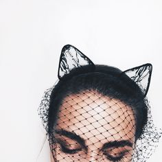 foxxinthewind:Get the cat ears mask HEREand the rabbit ears mask HERE Fascinator, Headpiece, Headdress, Pamela Isley, Looks Style, My Style, French Style, Fashion Looks, Fashion Pics