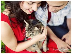 Haha, we should probably have a family portrait with our cats.